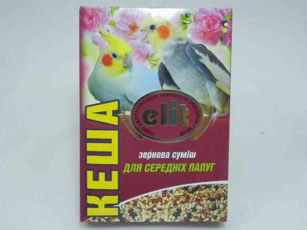 Кеша Элит, зерновая смесь для средних попугаев - 500 г