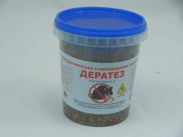 Дератез, средство для борьбы с мышевидными грызунами - 350 г