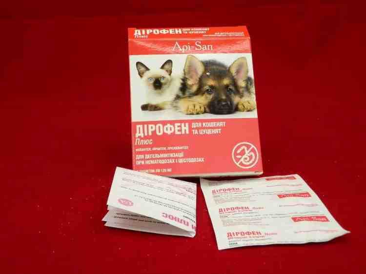 Дирофен Плюс, противоглистное средство для котят и щенков - 1 табл.