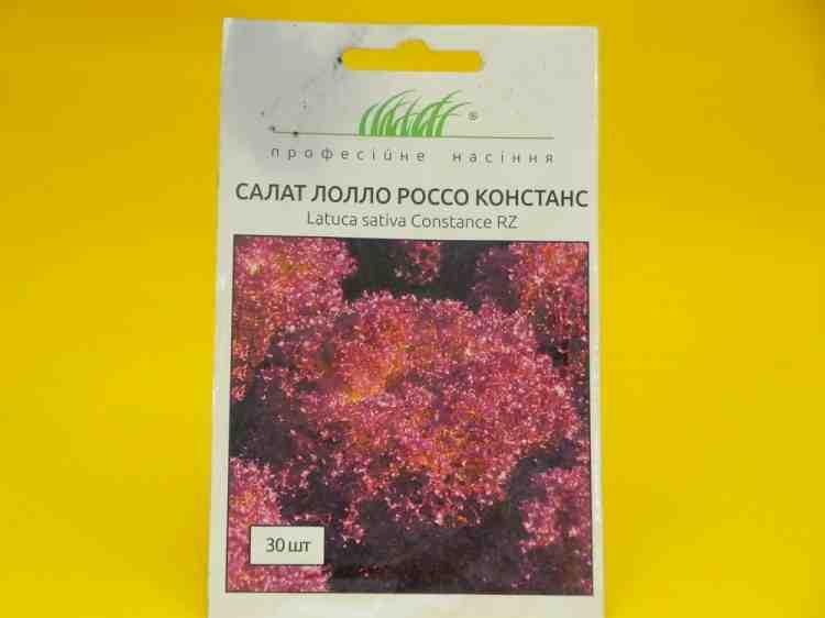 Семена салата Лолло Росса Констанс