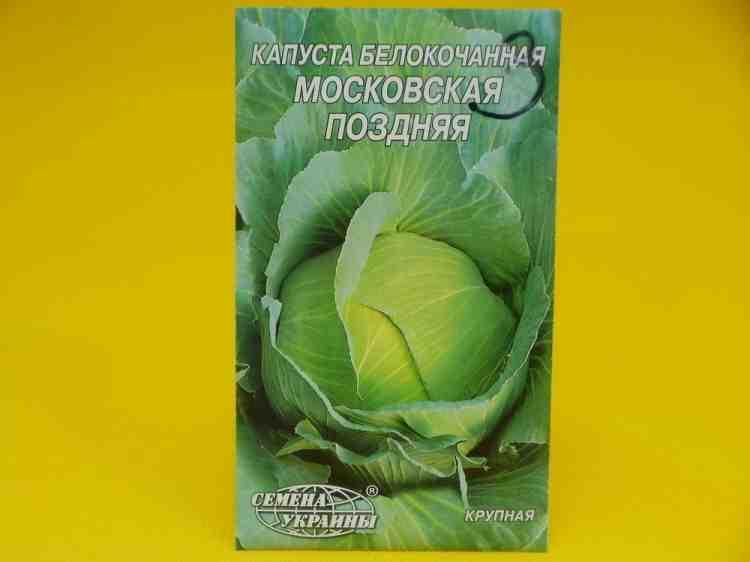 Семена капусты блокачанной Московская поздняя