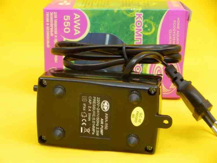 Компрессор для аквариума AWA-550, одноканальный