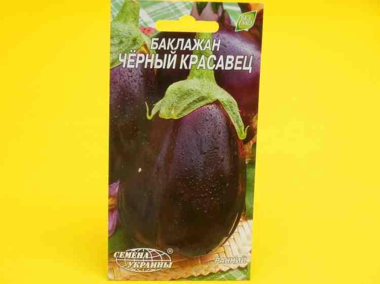 Семена  баклажанов Черный красавец