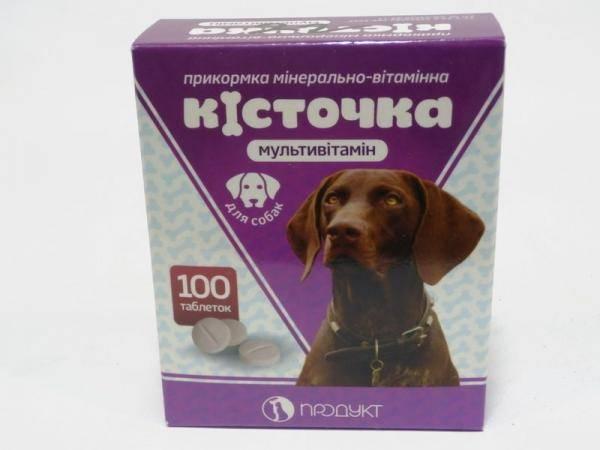 Витамины для собак Косточка Продукт