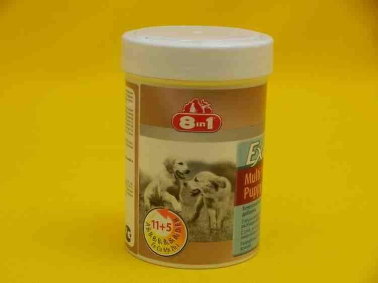 8 в 1 Excel Multi Vitamin Puppi Комплексная мультивитаминная добавка для щенков и растущих собак