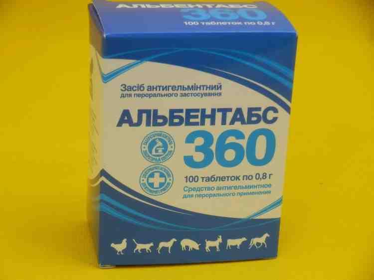 Альбентабс 360 антигельминтное средство