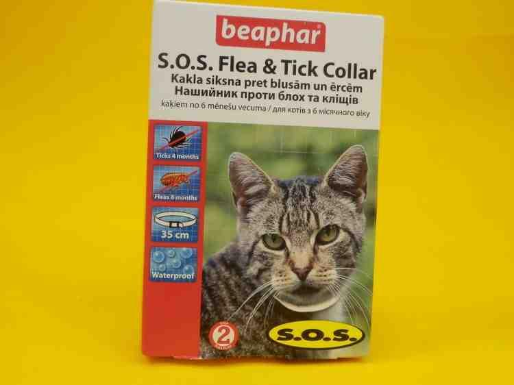 S.O.S. Flea & Tick Collar Ошейник S.O.S. от блох и клещей для кошек