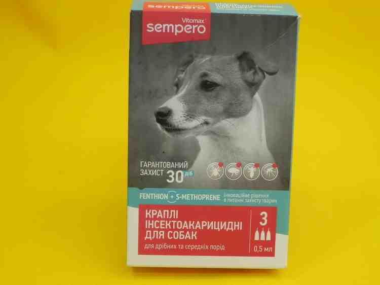 Sempero, инсектоакарицидные капли для собак и кошек