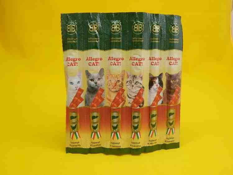 мясные колбаски для кошек