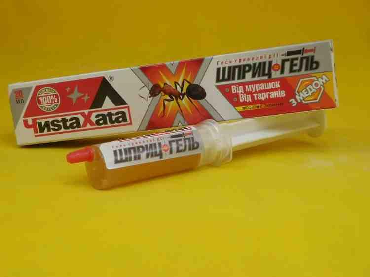 Чистая хата, шприц-гель от насекомых - 20г