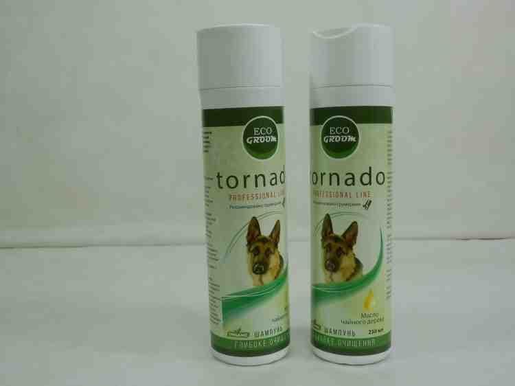 Шампунь очищающий для собак EkoGroom Tornado c маслом чайного дерева 250мл