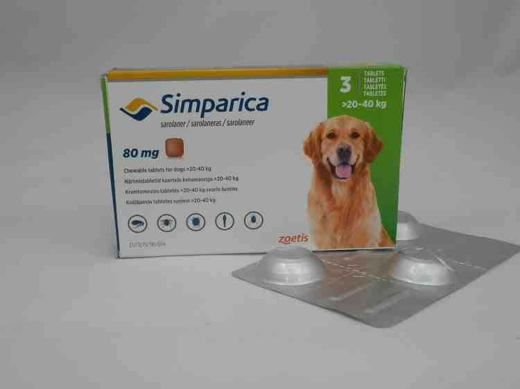 Симпарика, жевательные таблетки от клещей для собак