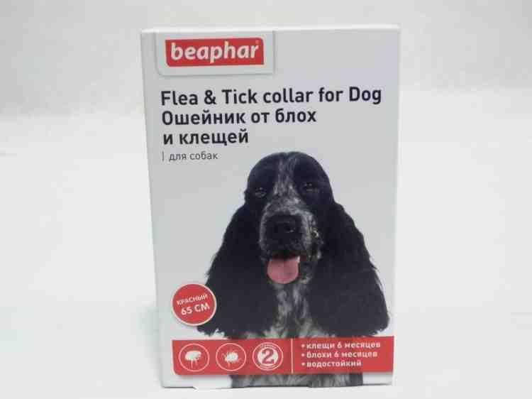 Ошейник от блох и клещей для собак цветной Бефар Beaphar Flea & Tick
