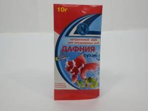 Дафния сухая - натуральный корм для аквариумных рыб