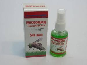 Мухоцид, спрей для отпугивания кровососущих насекомых