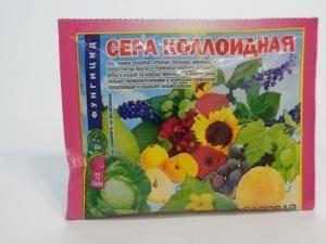 Сера коллоидная, защита растений от грибковых заболеваний, 1 пакет - 70 г