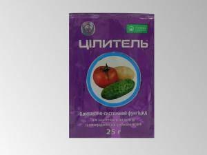 Целитель, средство для защиты овощных культур и винограда от грибковых болезней - 1 пакетик - 25 г