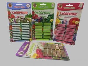 Чистая линия универсальное удобрение в палочках  для всех видов растений, 1 упаковка - 30 шт