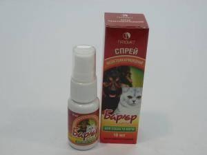 Барьер-Супер, спрей антипаразитарный для собак и кошек