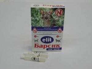 Барсик Элит, антипаразитарные капли для кошек