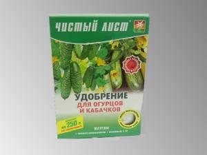 Чистый лист Удобрение для огурцов и кабачков