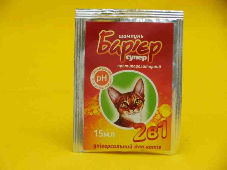 Разовый шампунь от блох для собак и кошек Барьер