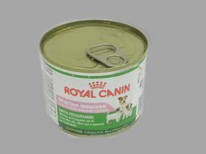 Консервы для щенков Роял канин (Royal Canin) 195 г Starter Mousse -  мусс для щенков до 2-х месяцев, беременных и кормящих сук