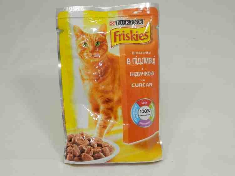 Friskies (Фрискис) Кусочки в подливе с индейкой