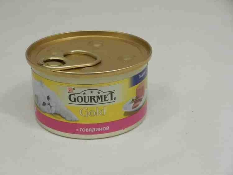 Gourmet Gold (Гурмет Голд) консервы для кошек паштет с говядиной