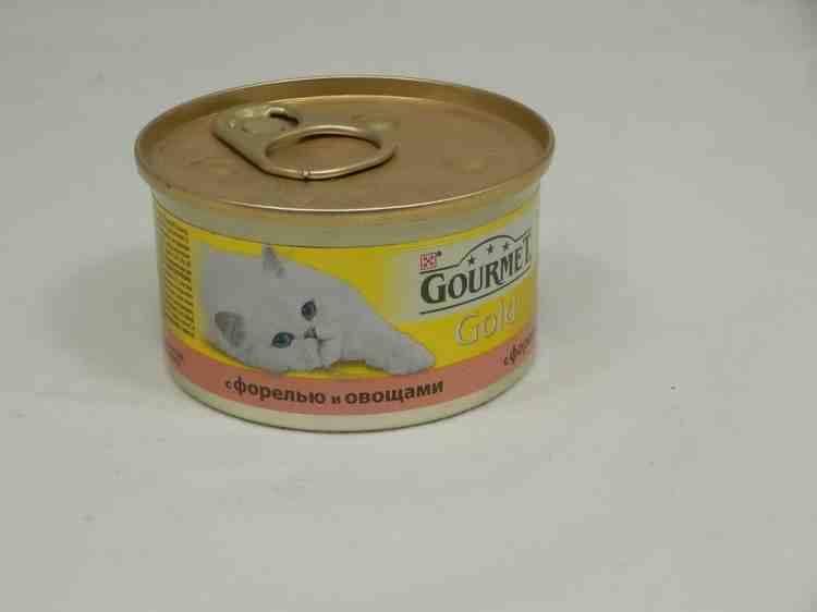 Gourmet Gold (Гурмет Голд) консервы для кошек кусочки в подливке с форелью и овощами