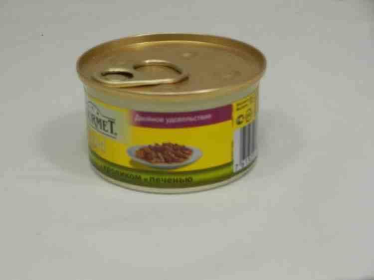 Gourmet Gold (Гурмет Голд) консервы для кошек двойное удовольствие с кроликом и печенью