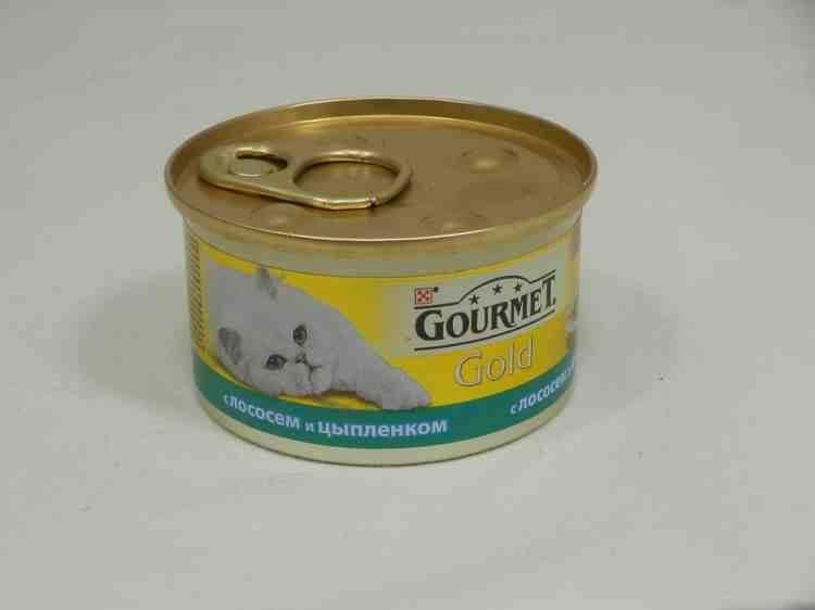 Gourmet Gold (Гурмет Голд) консервы для кошек кусочки в подливке с лососем и цыплёнком