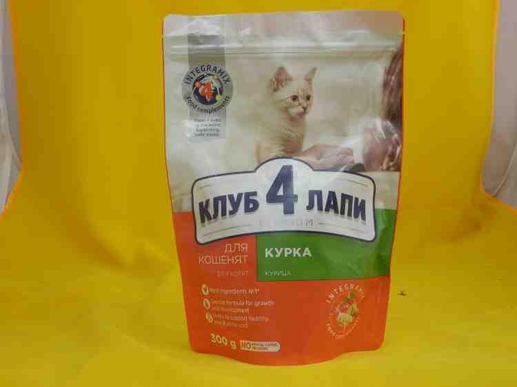 Клуб 4 лапы - сухой корм для котят