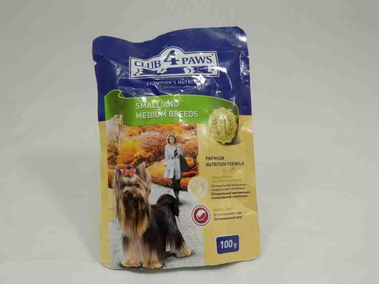 Влажный корм, консервы Клуб 4 Лапы для  собак Для малых и средних пород собак