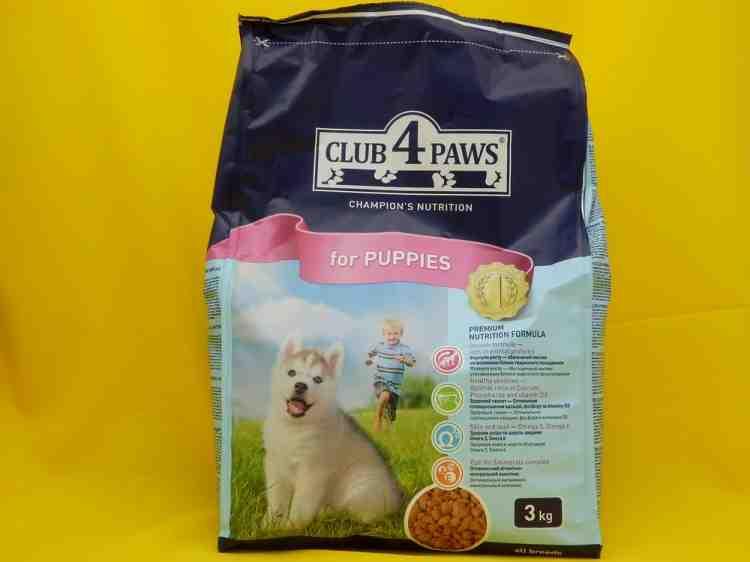 Сухой корм Клуб 4 Лапы для щенков